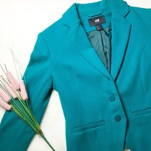 Short Teal/Blue Fitter Blazer